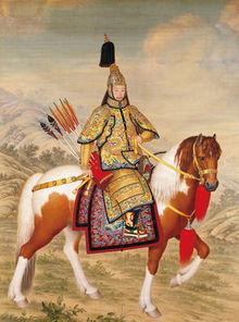 万帝来朝-《乾隆皇帝大阅戎装像》现藏北京故宫博物院   《嵩献英芝图》,现藏...