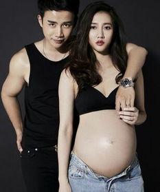 ...女方怀孕6个月大肚照疑怀双胞胎