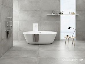 高级灰现代风格效果图-加西亚瓷砖意大利原创莫兰迪水泥砖震撼上市