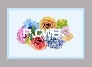 日系水彩花卉海报素材