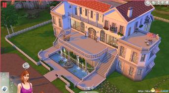 模拟人生4 房屋MOD 超级豪宅白色宫殿住宅MOD分享