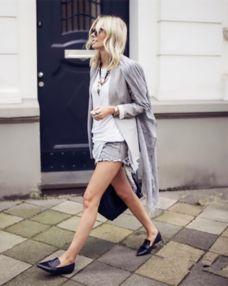 乐福鞋或其他休闲鞋款搭配短裤显得十分随性硬朗,非常适合喜欢中性...