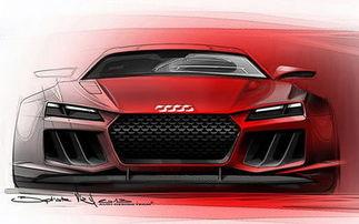 ...媒体曝光了奥迪全新旗舰Quattro Sport e-tron概念车的设计草图,图...