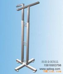 供应天地柱不锈钢服装展示架
