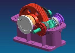 ...柱齿轮减速器的三维虚拟装配模型-三维CAD CAE技术及在机械设计...