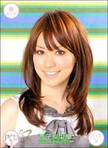 日本女孩长发发型图片 2