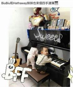 周杰伦女儿弹钢琴-天生好基因 昆凌陪女儿弹钢琴,小周周萌到爆