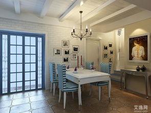 地中海风格简约饭厅装修设计图