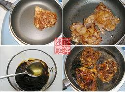 的料汁倒入煎制鸡肉的锅中,焖煮一会至汤汁浓稠,倒入一勺蜂蜜调匀...