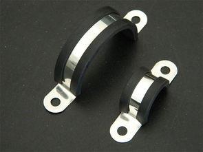 福莱通U型包胶管夹 橡胶减震U型卡子规格
