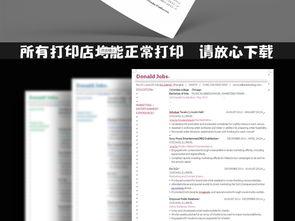 极简英文简历模板下载图片下载极简英文简历