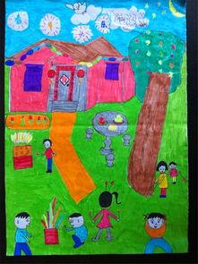小学生春节绘画优秀作品
